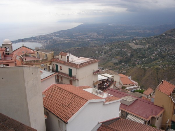 The view from Castelmola, Sicily. Visited Sep 2005.